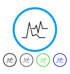 ecg rounded icon vector image