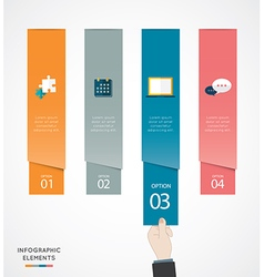 Flat Infographics Template and Web Elements vector image