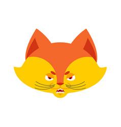 fox angry emoji wild beast evil emotions avatar vector image