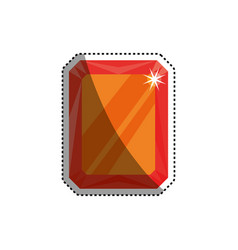 Gemstone rujewel vector