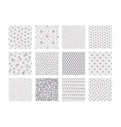 geometric doodle patterns hand drawn seamless vector image