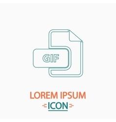 GIF computer symbol vector