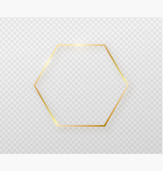 Golden frame with light shadow and light affects vector