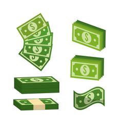 Green bill dolar money vector