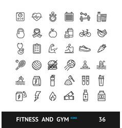 gym sign black thin line icon set vector image