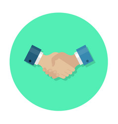 Handshake flat icon vector