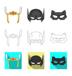 Hero and mask sign vector