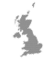 Hex-tile united kingdom map vector