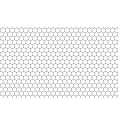 Hexagon net pattern background vector