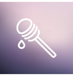 Honey dipper thin line icon vector image