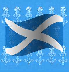 Independence day of scotland 24 june flag of vector