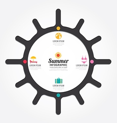 infographics sun design summer concept vector image