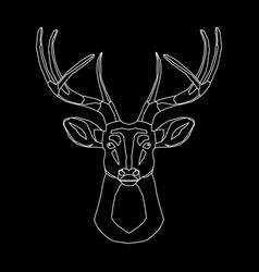 line deer vector image