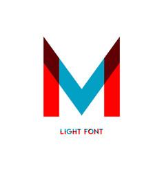 M light font template design vector