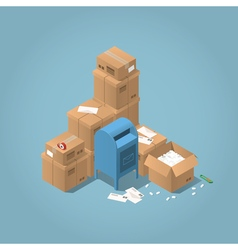 Mailbox and parcel vector