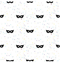 masquerade mask simple black and white vector image