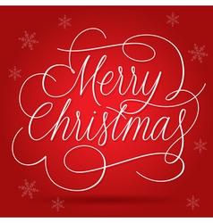 Merry Christmas Greetings Slogan vector image