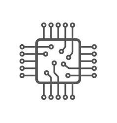 Microchip icon cpu and gpu icon processor icon vector