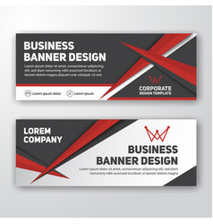 Modern corporate banner background vector
