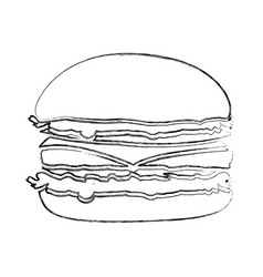 Monochrome blurred contour with burger vector