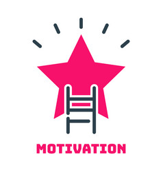 Motivation concept career ladder star icon vector