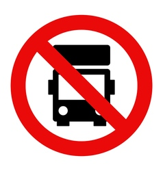 No lorry parking vector image