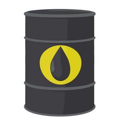 Oil barrel icon cartoon style vector