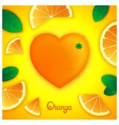 Oranges art composition vector