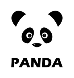 Panda sign vector image