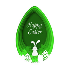 paper easter background colorful easter eggs vector image