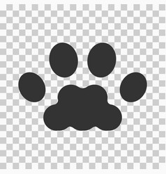 paw print black icon vector image