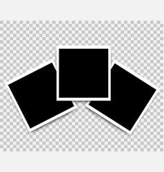 photo frames set mockup design icons vector image