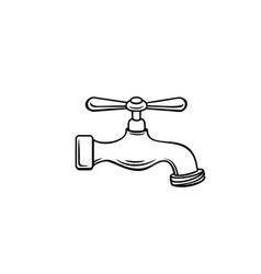 Plumbing tap outline vector