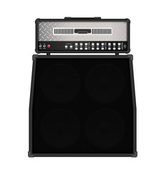 realistic modern rock amplifier with cabinet vector image