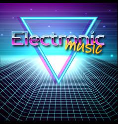 Retro futuristic background 80s style vector