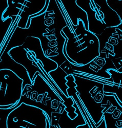 Rock guitars in a seamless pattern vector