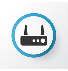 Router icon symbol premium quality isolated wifi vector
