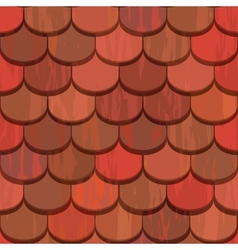 Seamless red clay roof tiles vector image