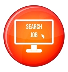 Search Job icon flat style vector