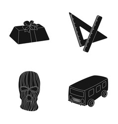 service transport and other web icon in black vector image