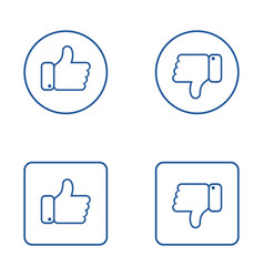 set icon thumbs up outline symbols like for vector image