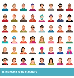 Set of avatars various male and female vector