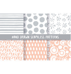 set six stylish patterns vector image