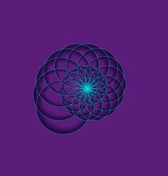 snail spiral logo sea shell blue circles signs vector image