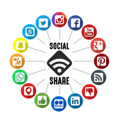Social share background vector