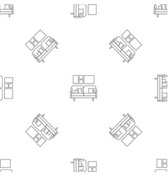 soft sofa pattern seamless vector image