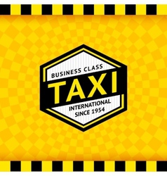 Taxi symbol with checkered background - 09 vector