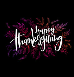 thanksgiving greeting hand vector image