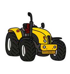 The yellow open tractor vector