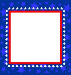Usa symbol square blue frame vector